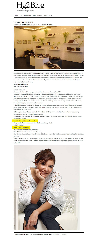 Hg2 Blog January 2011